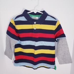 Hanna Andersson Boy's Long Sleeve Shirt 80 12-18